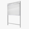 Freestanding Community Notice Board with Header Panel FlexiDisplay ClipLok