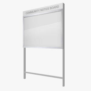 FlexiDisplay ClipLok Freestanding Header Panel Standard