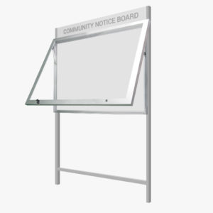 Community Notice Board with Header Panel FlexiDisplay TuffLok