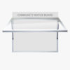 Wall Mounted Community Notice Board with Header Panel FlexiDisplay TuffLok