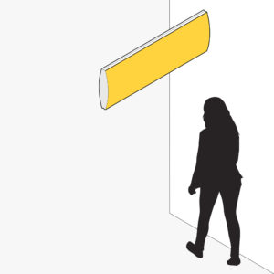 FlexiSign Cantilevered Blade 440 Wall Mounted Way Modular Wayfinding Signage