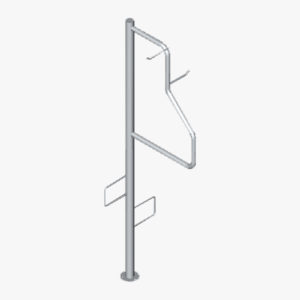 Cycla 2-up Vertical Stand Single-sided Bike Rack