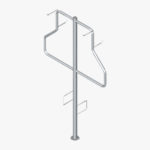 Cycla 2-up Vertical Stand Double-sided Bike rack