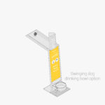 Aquafil Bold 850BF Drinking Fountain and Bottle Refill Station in yellow Aquafil Bold 850BF Drinking Fountain in yellow signage panels with swinging drinking bowl option catption