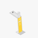 Aquafil Bold 850BF Drinking Fountain and Bottle Refill Station in yellow Aquafil Bold 850BF Drinking Fountain and Bottle Refill Station in yellow signage panels