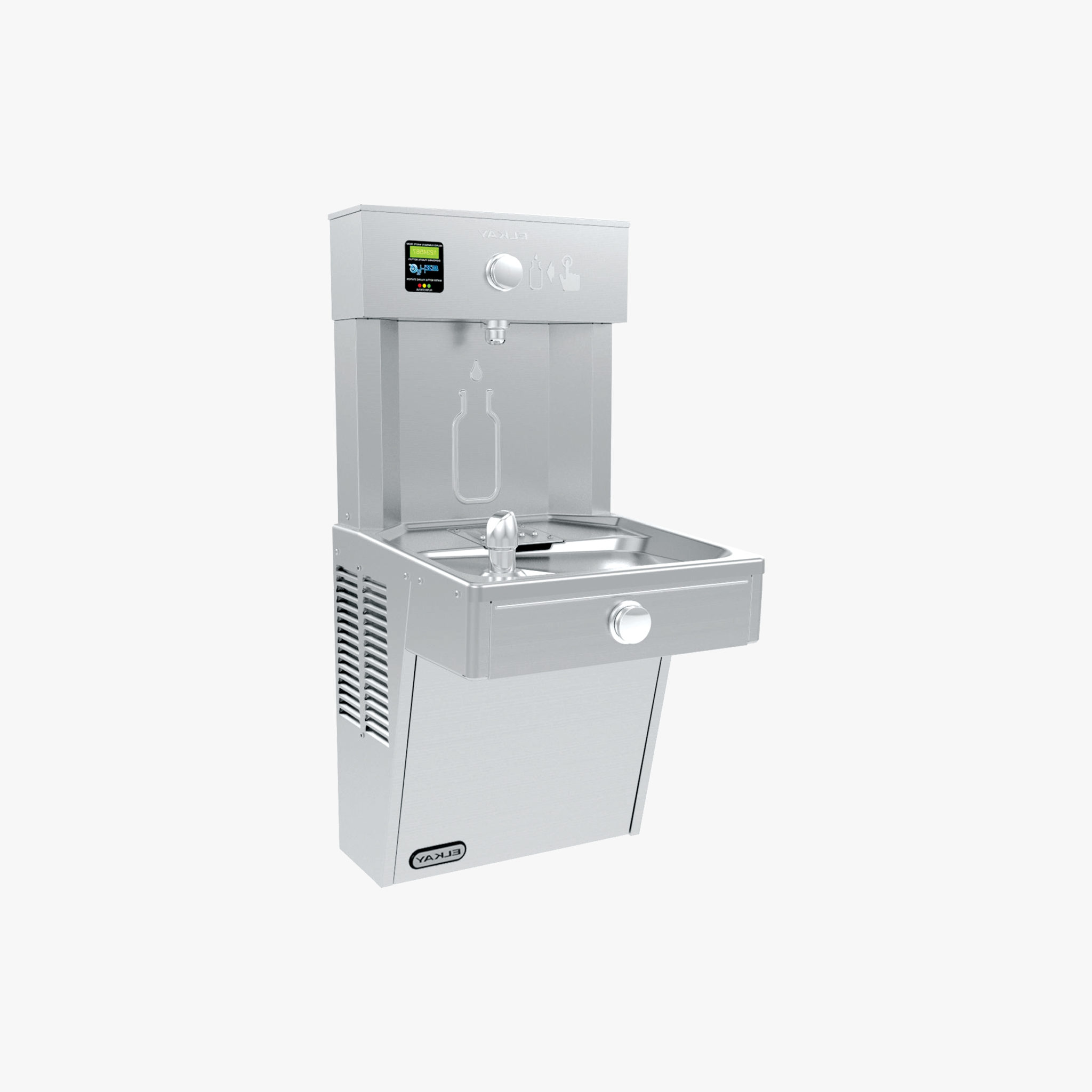 Elkay EZH20 Vandal-resistant Wall-mounted Drinking Fountain and Bottle Refill Station