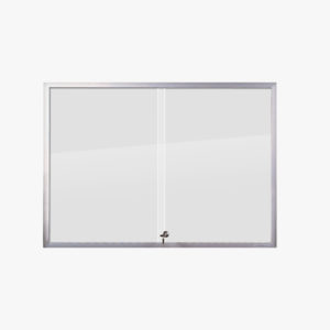 VisiGuard Premium Sliding 2-door Poster Display Board