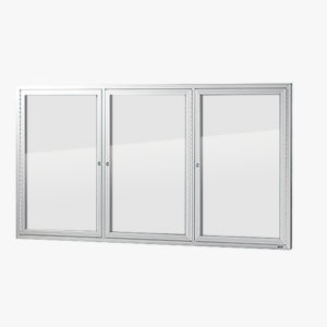VisiGuard Swinging 3-door Poster Display Board