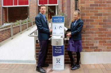 Knox Grammar School Aquafil Pulse Bubbler Drinking Fountain and Bottle Refill Station CIVIQ