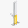 Aquafil FlexiShower Outdoor shower Single-sided with Drinking Fountain