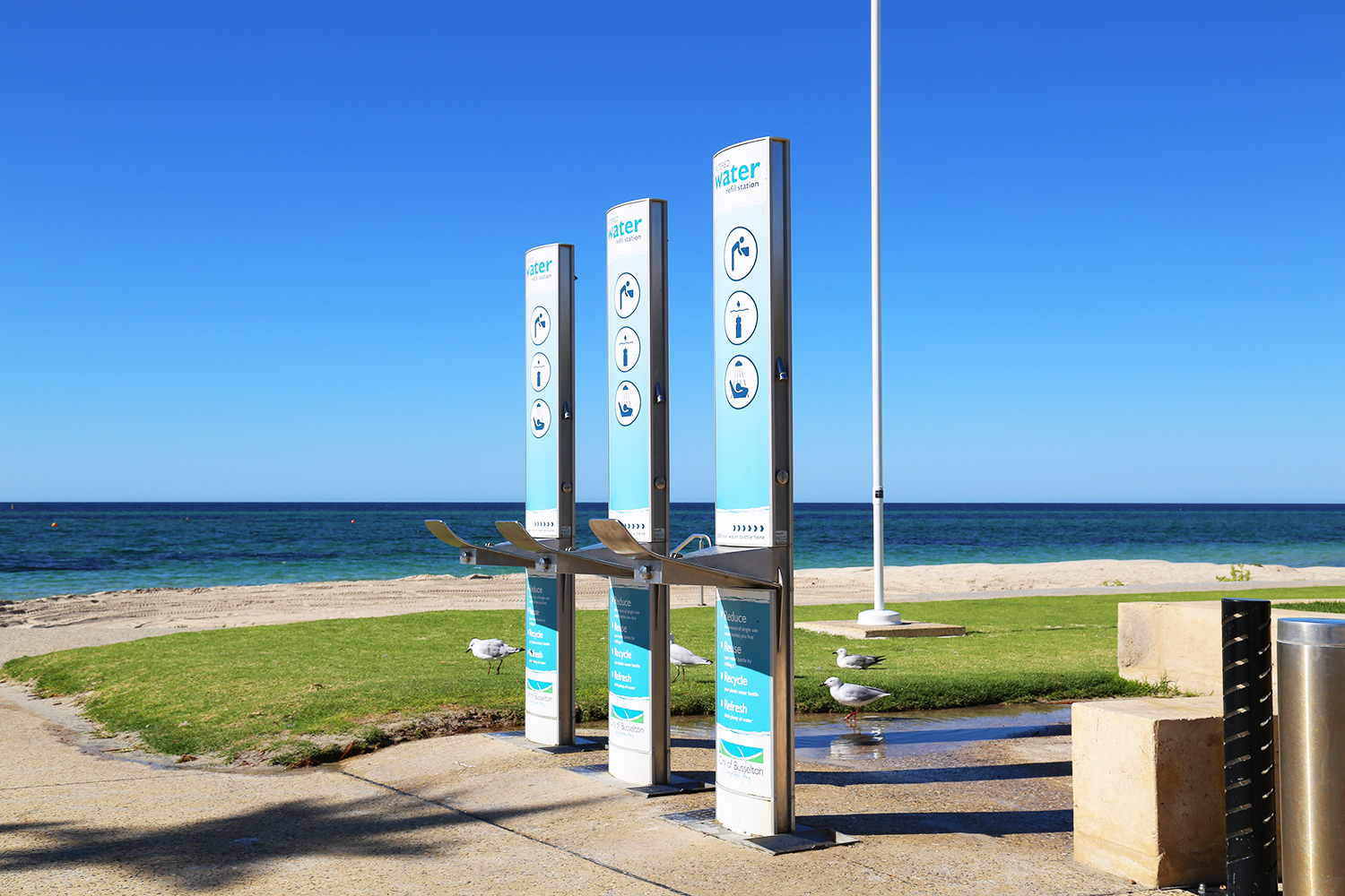 Drinking fountain stations at Busselton