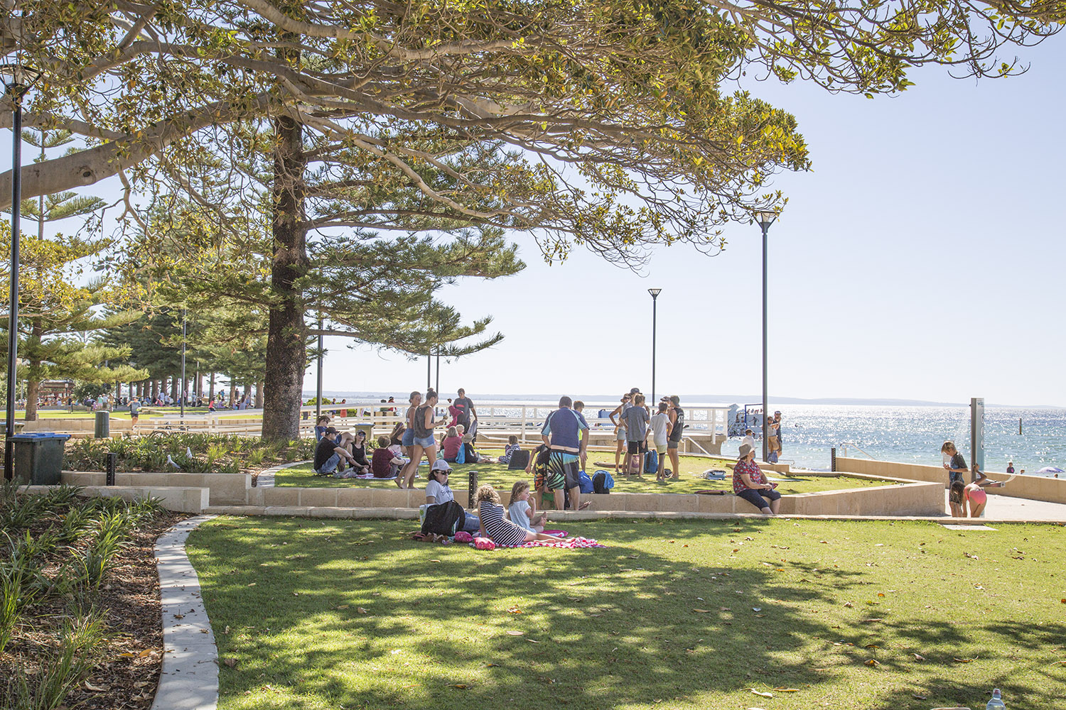 People enjoying their visit to Busselton Waterfront Redevelopment Precint