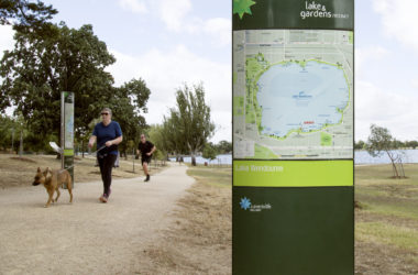 Wayfinding Signage and Drinking Fountain installed at Lake Wendouree