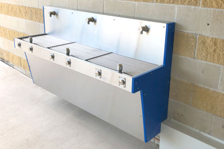 Aquafil Hydrobank Wall Mounted Drinking Fountain and Water Refilling Station installed at Caloundra Indoor Stadium