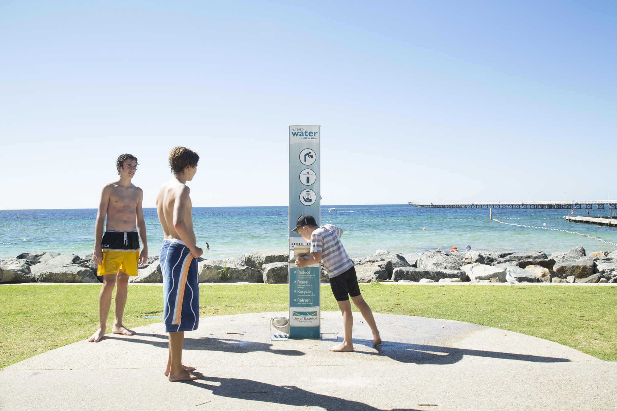 Busselton Kids drinking fountain station