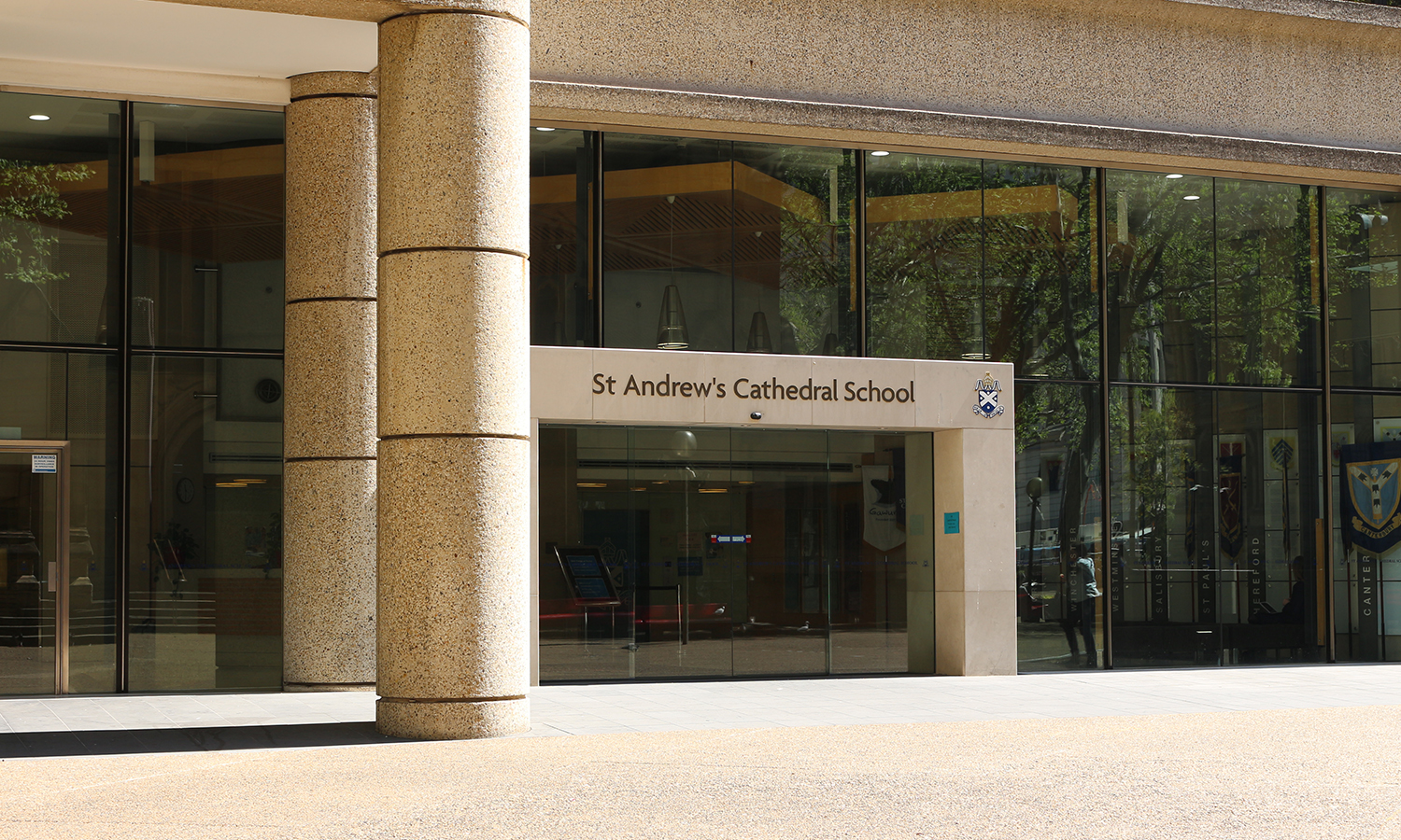 Front entrance of St Andrew's Cathedral School