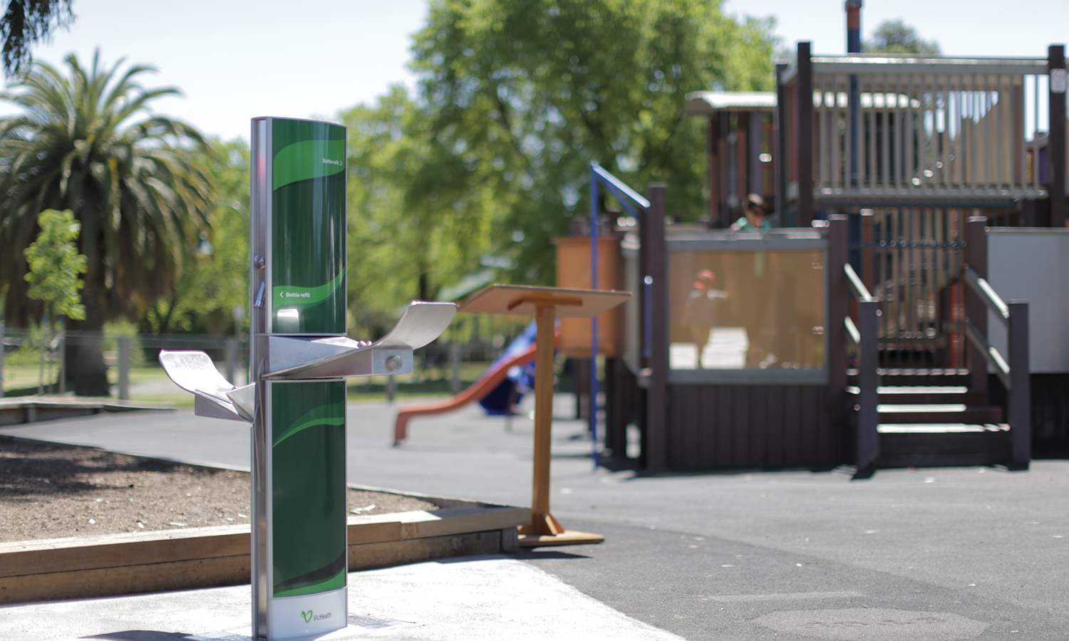 Aquafil FlexiFountain 1500BFF Dual-height Drinking Fountain & Bottle Refill Station installed in City of Greater Bendigo