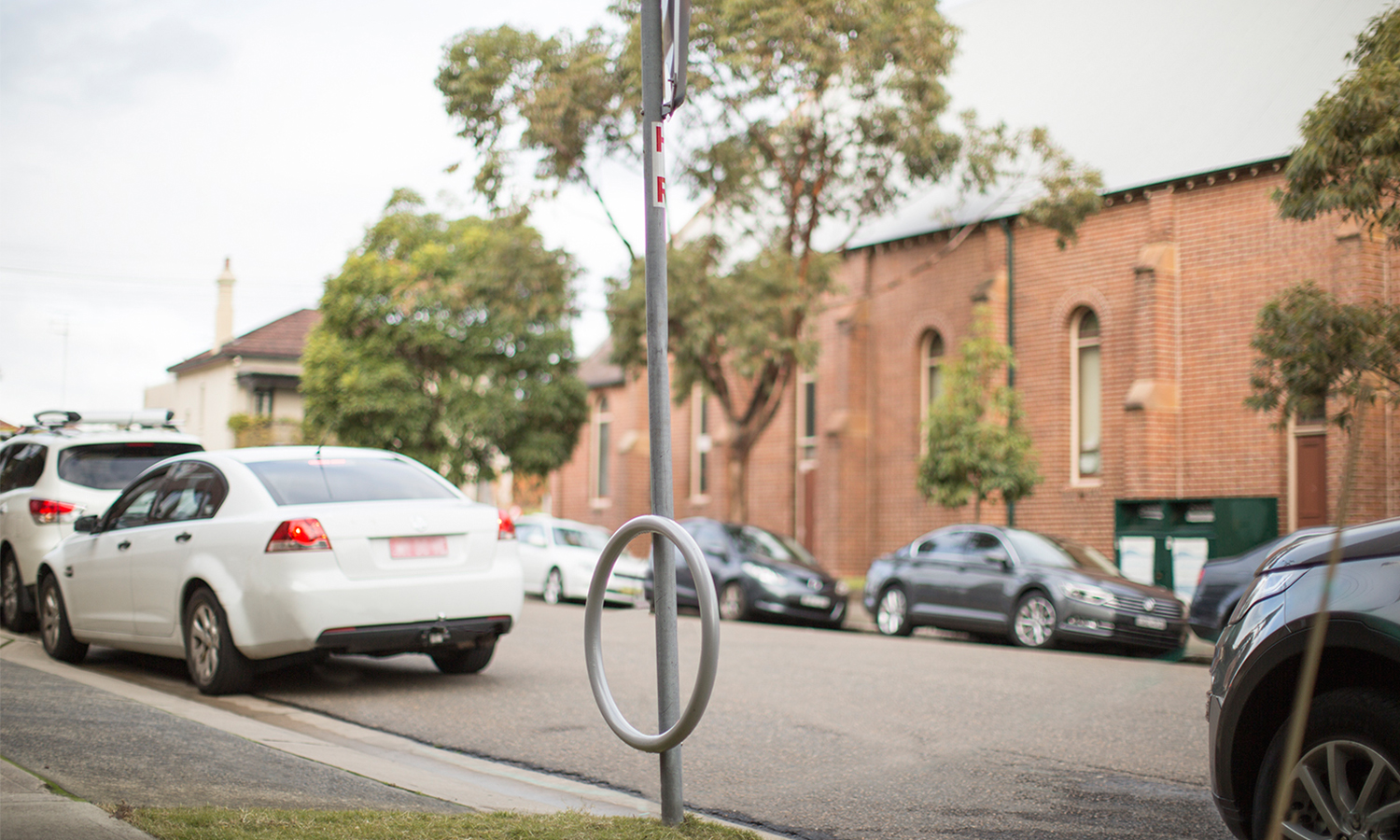 Cycla Pole- mounted Retrofit attached to stop sign