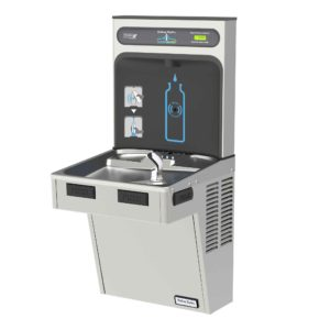 Halsey Taylor HydroBoost water refilling Station side view and angle