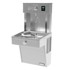 Halsey Taylor HydroBoost Drinking Fountain in a side angle view