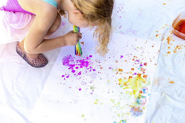 Water Bubble painting for kids