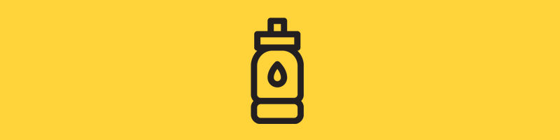A water bottle icons for SILVER-ION PROPERTIES hygienic features for Healthy Communities