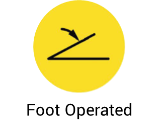 Foot operated