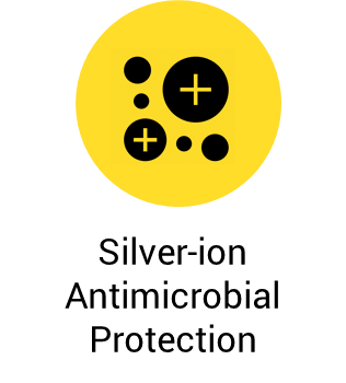 Silver-ion antimicrobial protection