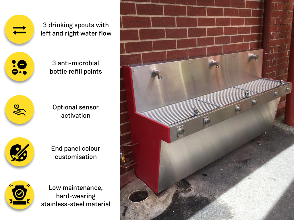 an image of Aquafil Hydrobank Drinking Water Stations ideal for Students keeping them Hydrated