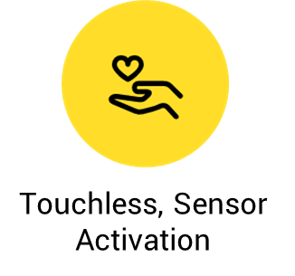 Touchless-sensor activation