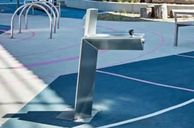 Aquafil Bold Drinking Fountain installed at Djeering Trail in Victoria