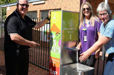 Hand Washing Station installed at Port Pirie Regional Council